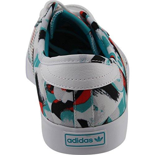 Adidas Originali Da Uomo Seeley Scarpe Con Stringhe Bianche / Blu Energia / Blu Energia