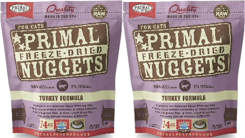Turkey Formula (Primal Freeze-Dried Nuggets Turkey Formula for Cats 28oz (2 x 14oz))