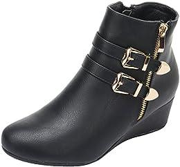 Amazon.com: Platform - Boots / Shoes: Clothing Shoes &amp Jewelry