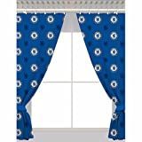 Chelsea FC Official Repeat Football Crest Curtains (Single) (Blue)