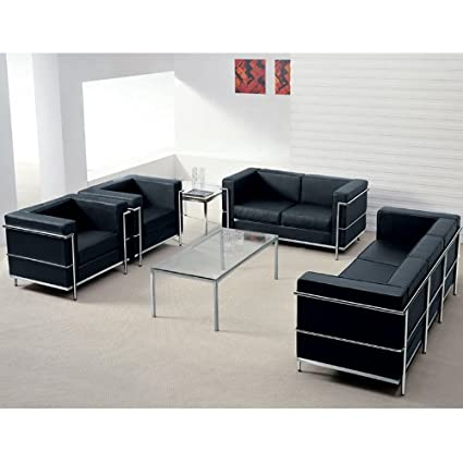 Amazon.com: UTMOST FURNITURE 4pc Modern Leather Office Reception ...