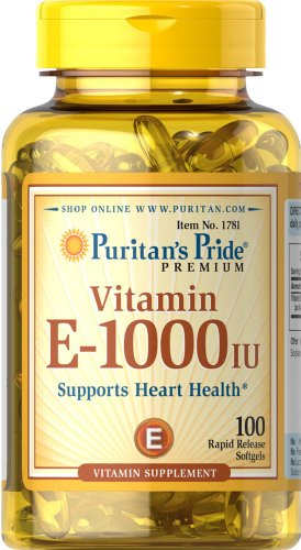 Puritan's Pride Vitamin E-1000 IU-100 Softgels (Vitamin A 1000 compare prices)