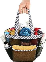 8 Pocket Mesh Shower Caddy Basket Portable, Hanging Portable Shower Tote Bag Toiletry Caddy Organizer for Bath