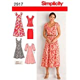 Simplicity Sewing Pattern 2917 Miss/Plus Size Dresses, BB (20W-22W-24W-26W-28W)