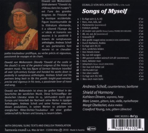 Songs Of Myself Oswald Von Wolkenstein Amazonfr Musique