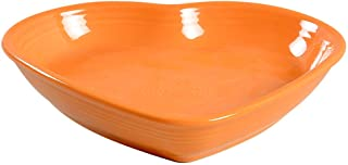 product image for Homer Laughlin Large Heart Bowl Tangerine