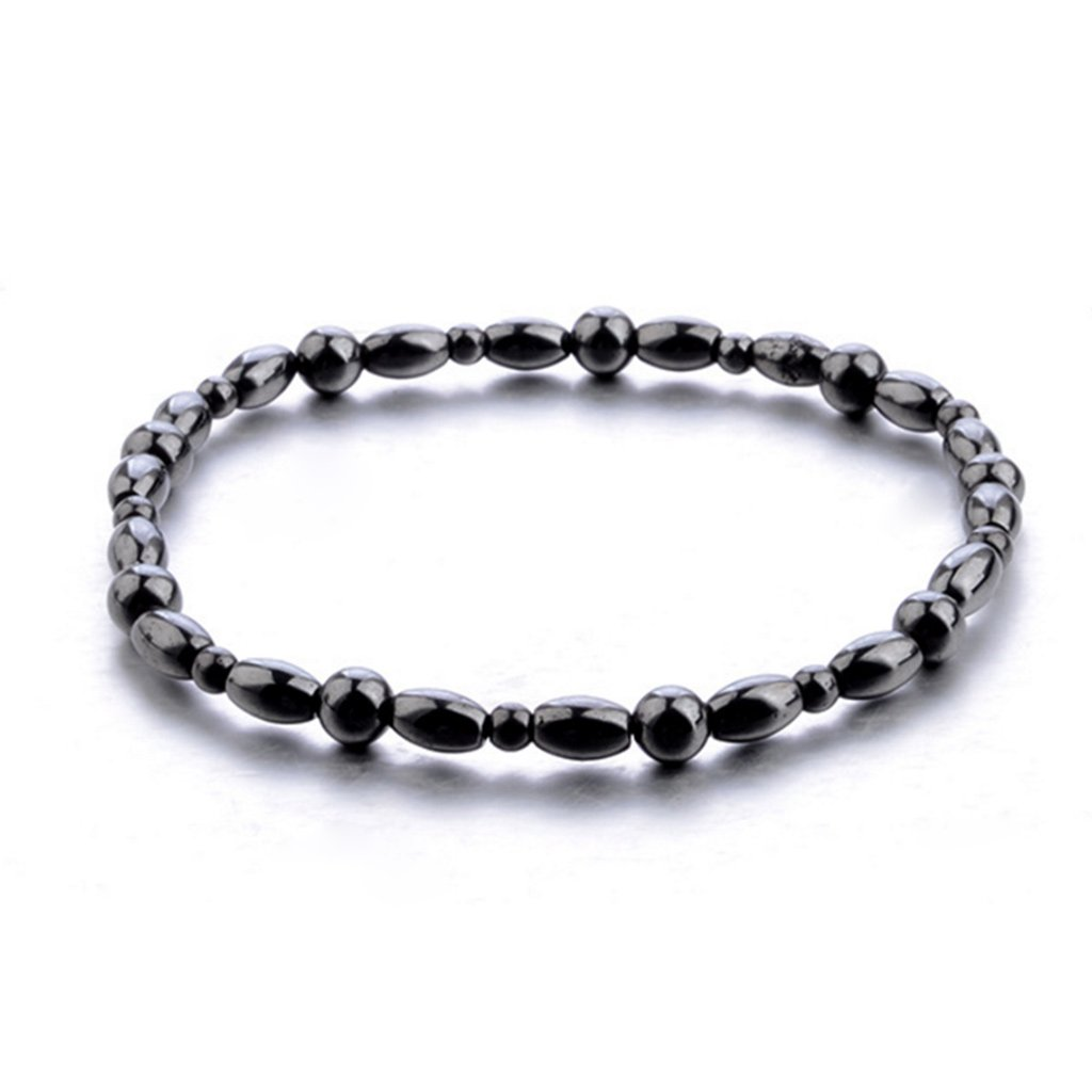 Doiber Magnetic Anklet Hematite Stone Ankle Bracelet Health Care Black Therapy Jewelry