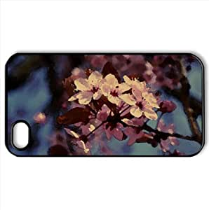 Cherry Blossoms Watercolor style Cover iPhone 4 and 4S Case (Spring Watercolor style Cover iPhone 4 and 4S Case)