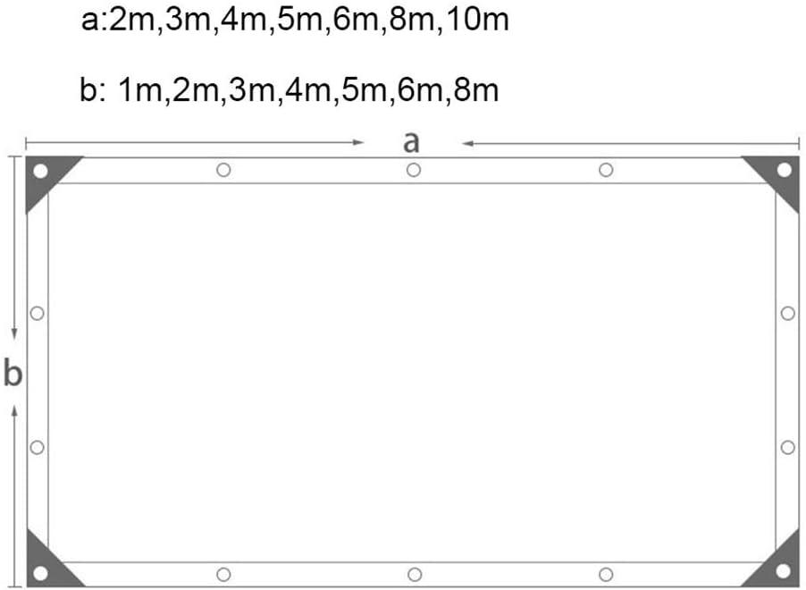 Verde Ventilazione Traspirante 3m X 5m Shading net LDFZ 8-Pin Rete ombreggiante Commerciale Pesante//Copertura vegetale//Posto Auto Coperto//Giardino//Casa per Cani//Cortile Serra Panno Ombra