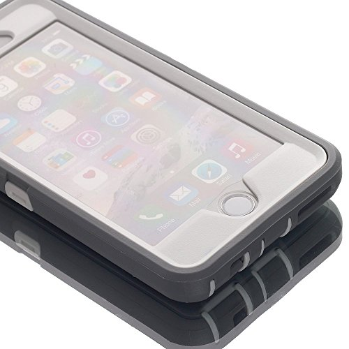 AICase iPhone 6 Case, iPhone 6S Case [Heavy Duty] Tough 3 in 1 Rugged Shockproof Cover for Apple iPhone 6/6S (Grey/White…