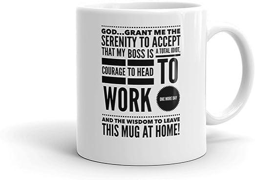 Amazon Com I Hate My Boss Funny Mug Leave This Mug At Home