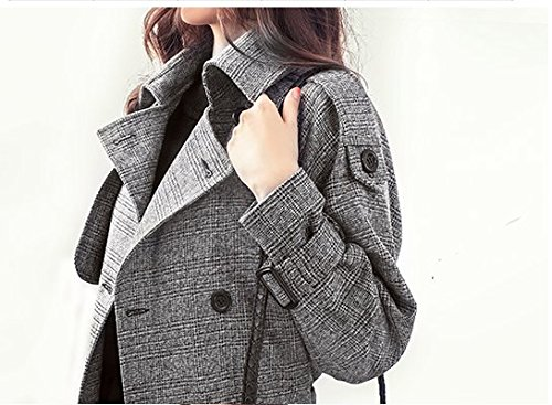 Mayihang vestido largo abrigo en las cualidades de un gran anorak El color de la imagen