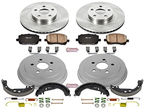 Power Stop KOE15200DK Daily Driver Pad, Rotor, Drum and Shoe Kit (Front and Rear)