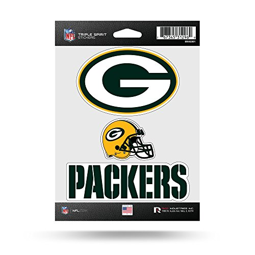 Nfl Green Bay Packers  Triple Spirit Stickers  Orange  Yellow  3 Team Stickers