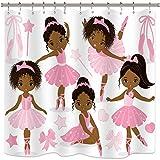 Cute Pink Shower Curtains Riyidecor Pink Ballet Shower Curtain Cute Girl Ballerina Dancer Skirt Gymnastic Kid Nursery Bathroom Child Fabric Waterproof for Bathtub 72x72 Inch Included 12-Pack Plastic Shower Hooks