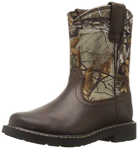 (Kids' Sierra Western Cowboy Boot, Distressed Brown, 6 M US Big Kid)