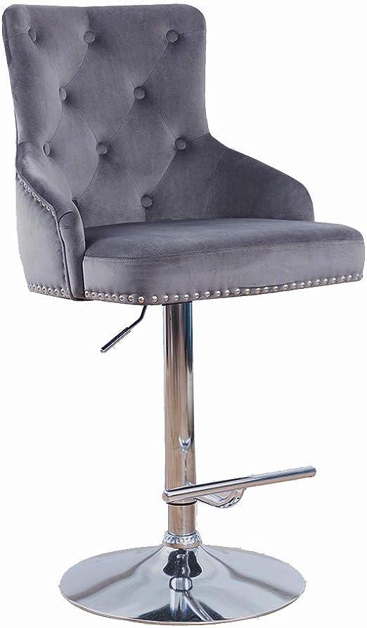 Amazon.com: DMF Furniture Taburetes de bar de terciopelo con ...