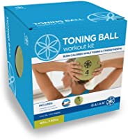 Gaiam Toning Ball Workout Kit (Includes: 4Lb Medicine Ball &