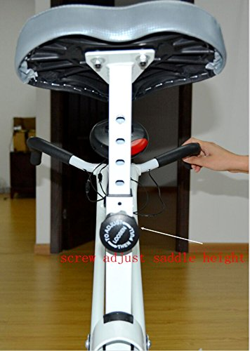 Synteam Folding Adjustable Magnetic Upright Exercise Bike Fitness Machine