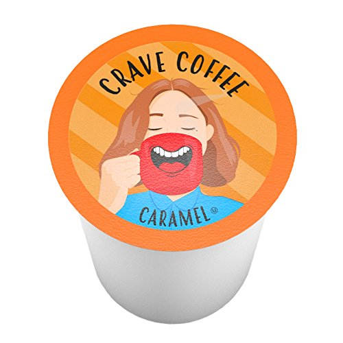 - Crave Flavored Coffee Pods, Compatible with 2.0 K-Cup Brewers, Caramel, 40 Count