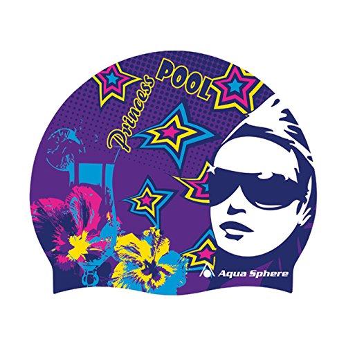 (Aqua Sphere Pool Princess Silicone Swim Cap Purple)