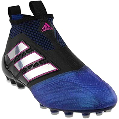 adidas Ace 17+ Purecontrol AG Cleat Mens Soccer 7 Core Black-White-Blue