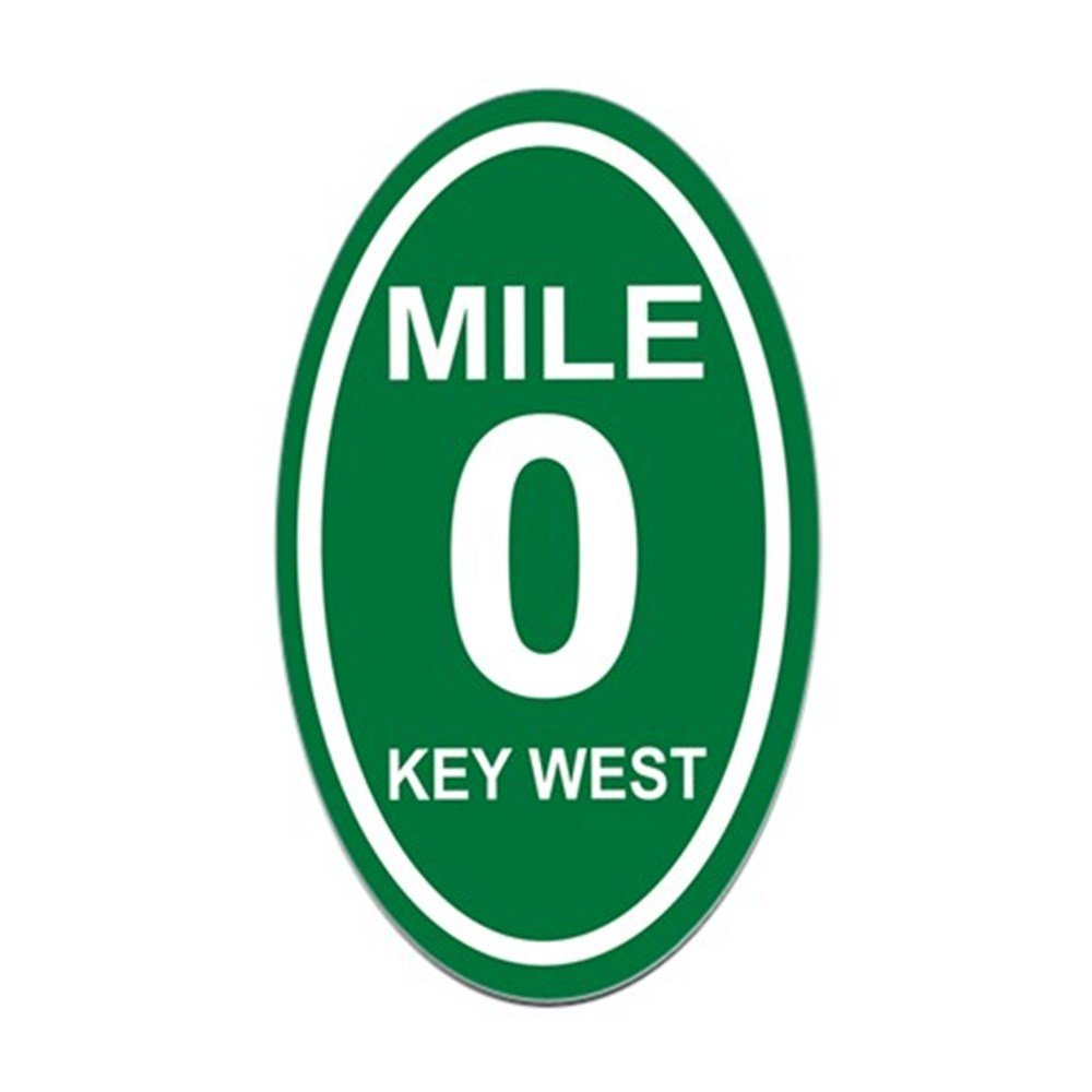 Amazon com cafepress mile marker zero key west euro oval sticker oval bumper sticker euro oval car decal automotive