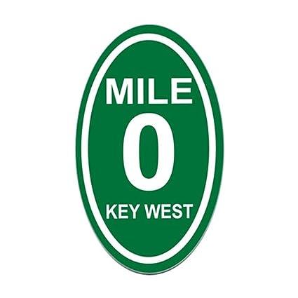 Amazon.com: CafePress – Mile Marcador Zero Key West – Euro ...