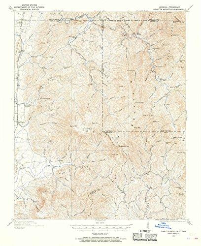 Georgia Maps | 1911 Cohutta MTN, GA USGS Historical Topographic Map |Fine Art Cartography Reproduction Print (Ga Cohutta)