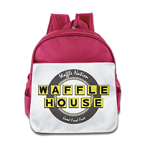 Toddler Waffle House Fast Food Printing School Backpack Pink