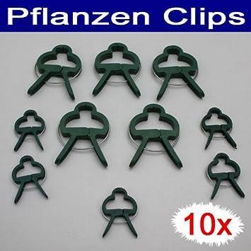 Pflanzenclips 10 tlg., Kunststoff, 10x Garten Pflanzen Zaun Blumen ...
