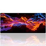 YEBMoo Gaming Mouse Pad XXL Large Size (35.4 x 15.7 inches) Extended Long Mouse Mat Water-Resistant Mouse Pads with Non-Slip Rubber Base, Special-Textured Surface for Keyboard and Mouse (011caiyun)