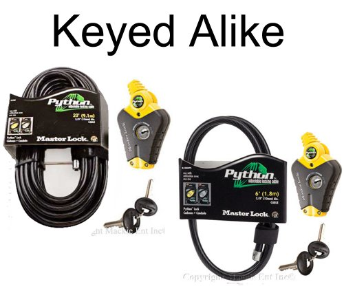 Master Lock - Python Adjustable Cable Locks 1-6ft 1-20ft
