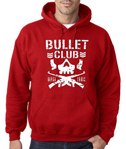 New Way 786 - Hoodie Bullet Club Skull Bone Soldier Japan Pro Wrestling Unisex Pullover Sweatshirt 4XL Red