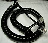 Lot of 10 Glossy Black 9' Ft Handset Phone Cords for Avaya 1400 and 1600 Series IP Office Phone with 4'' Tail/Lead / Leader 1403 1408 1416 1603 1608 1616 1616i (10-Pack) by DIY-BizPhones