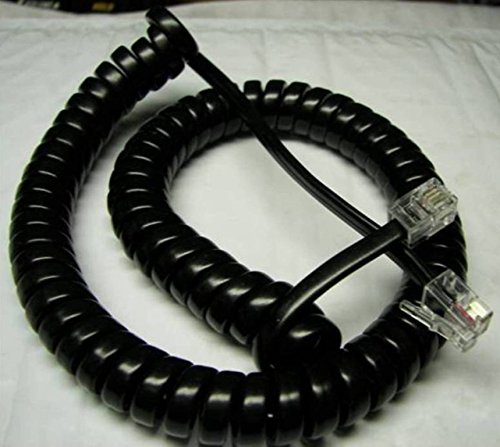 Lot of 5 Black 9' Ft Handset Phone Cords for Avaya Magix / IP Office with 4