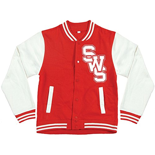 Sleeping With Sirens Men's Float Varsity Jacket Medium Red by Sleeping with Sirens
