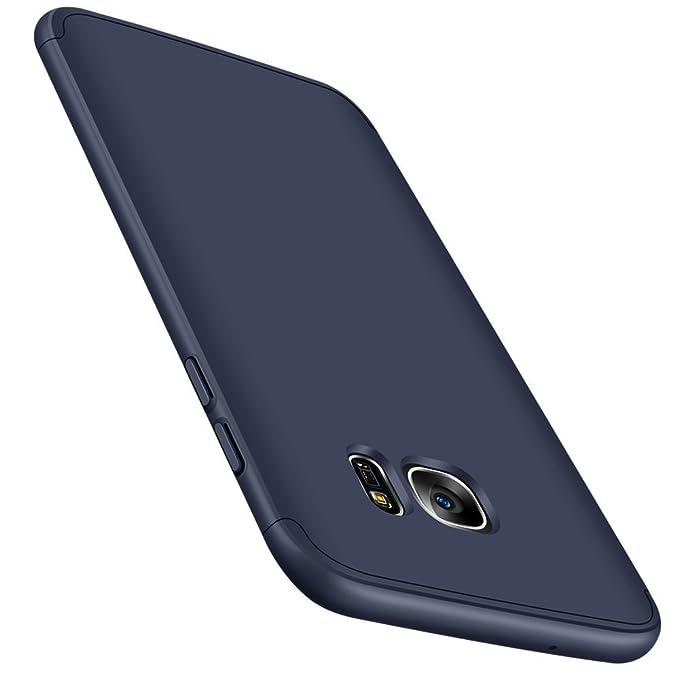 Vanki Funda Galaxy S7 Edge, 360 Grados Caso Carcasa Cubierta de lujo 3in1 híbrido la cubierta Anti-Arañazos Anti-Choque de la PC para Samsung Galaxy ...
