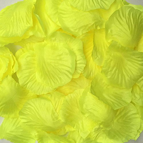 [HCSTAR 300pcs Silk Rose Petals Artificial Flower Wedding Party Vase Home Decor Bridal Petals Rose Favors, Lemon] (Hollywood Quality Costumes For Sale)