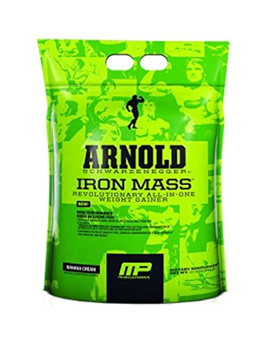 Арнольд По MusclePharm Утюг Mass Banana Cream 10 LBS (4,54 кг)