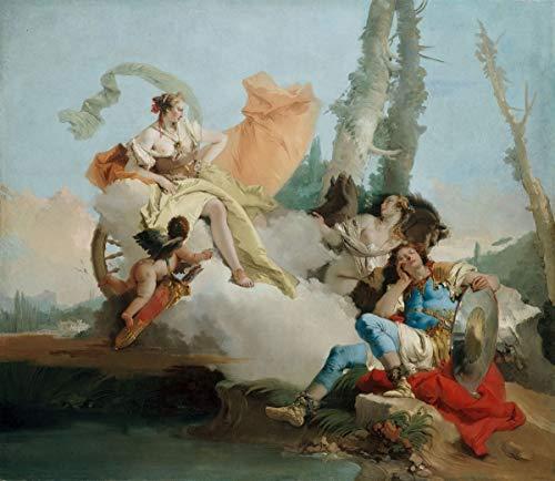 Giovanni Battista Tiepolo Giclee Canvas Print Paintings Poster Reproduction(Rinaldo Enchanted by Armida) #XFB (Rinaldo Enchanted By Armida Giovanni Battista Tiepolo)