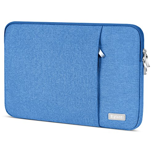 Laptop Sleeve 15.6 Inch, Egiant Water Repellent Protective Fabric Notebook Bag Case Compatible F555LA MB168B X551, Aspire 15.6,Chromebook 15, Inspiron 15.6.Pavilion 15.6,Computer Carrying Case,Blue