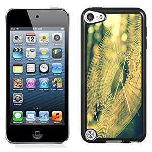 NEW Unique Custom Designed iPod Touch 5 Phone Case With Spider Web Sun Light_Black Phone Case