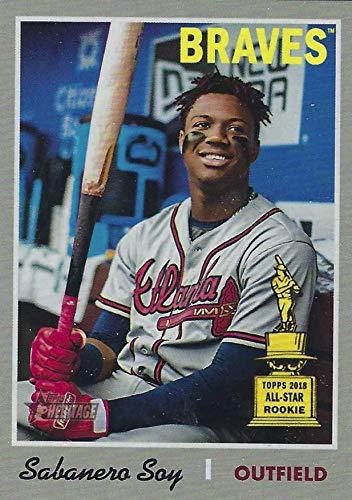 2019 Topps Heritage - Ronald Acuna Jr - Sabanero Soy - NICKNAME VARIATION - Rookie Cup All-Star - SSP SUPER SHORT PRINT - Atlanta Braves Baseball Card #500