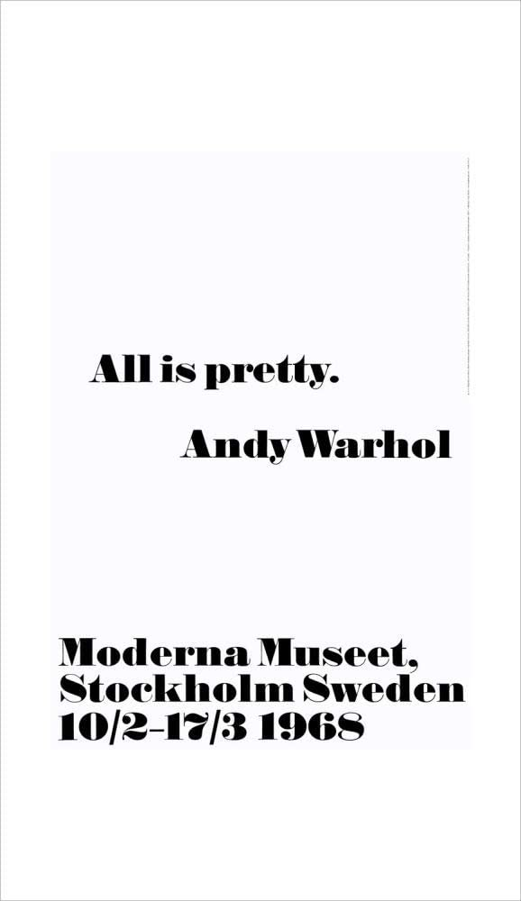 1art1 Andy Warhol - All Is Pretty Póster Impresión Artística (100 x 70cm)