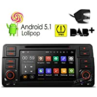 XTRONS Quad Core 7 Android 5.1 Car Stereo Multi-touch Screen Radio DVD Player GPS 1080P Video Screen Mirroring OBD2 Wifi CANbus Tire Pressure Monitoring for BMW E46/320/325 Reversing Camera Included