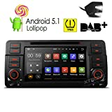 XTRONS Quad Core 7'' Android 5.1 Car Stereo Multi-touch Screen Radio DVD Player GPS 1080P Video Screen Mirroring OBD2 Wifi CANbus Tire Pressure Monitoring for BMW E46/320/325 Reversing Camera Included