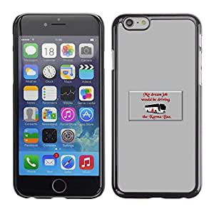 // PHONE CASE GIFT // Duro Estuche protector PC Cáscara Plástico Carcasa Funda Hard Protective Case for iPhone 6 / Driving The Karma Bus /