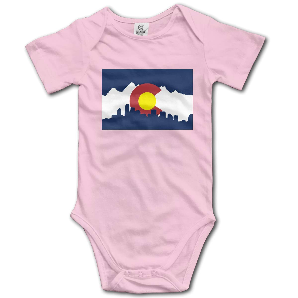 CUTEDWARF Baby Short-Sleeve Onesies Colorado Flag Bodysuit Baby Outfits