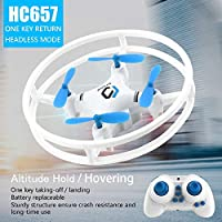 Mini Drone Remote Control Quadcopter 2.4GHz 6 Axis Gyro With Altitude Hold Function, Headless Mode One Key Return Best Drone for Beginners & Kids with 3D Flip Flash Light (Blue)